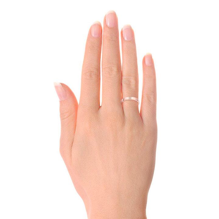 Обручальное кольцо американка с одним бриллиантом «Кайя»