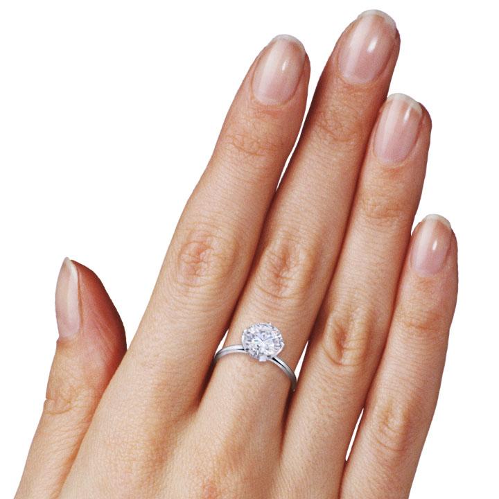Золоте кольцо з великим каменем «Tiffany Love»