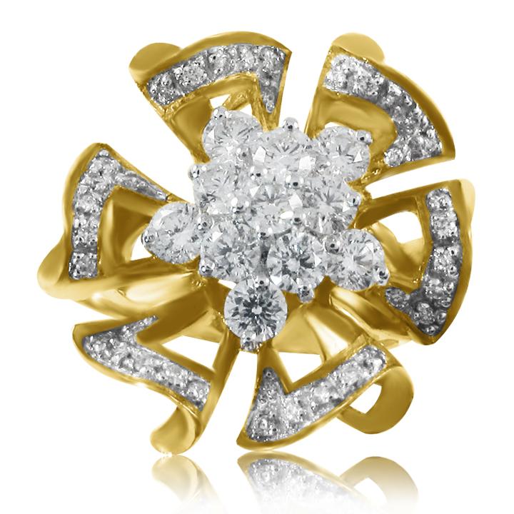 Золоте кільце «Райська квітка»