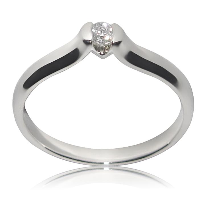 Золотое кольцо на помолвку с бриллиантом 0,1 Ct «Ассоль»