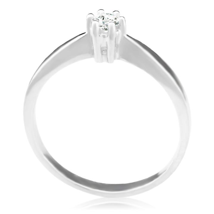 Золоте кільце на заручини з діамантом 0,1 Ct «Jul»