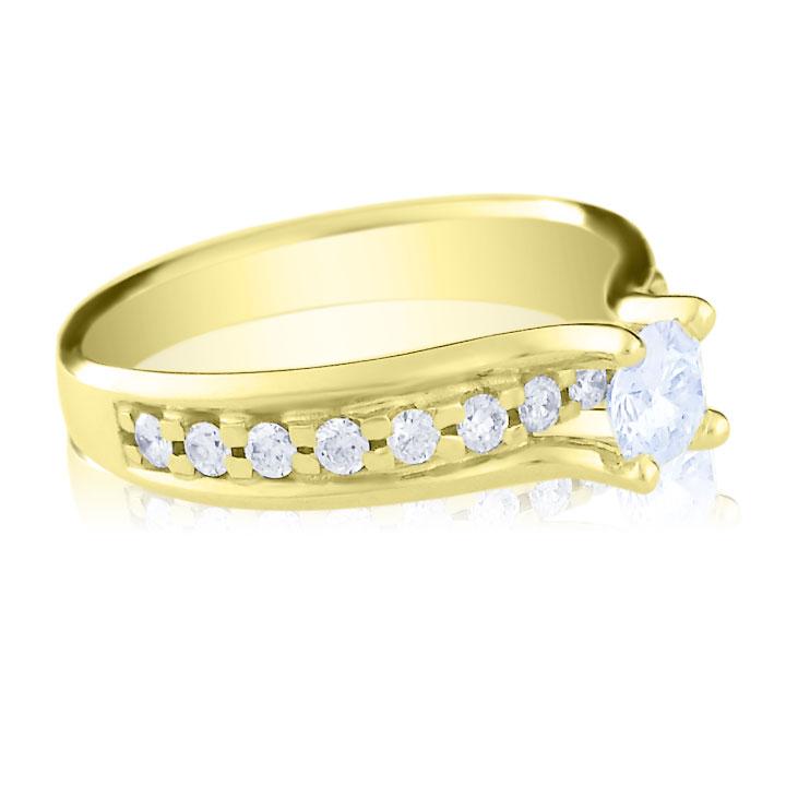 Дорогое кольцо на помолвку с бриллиантом 0,33 Ct «Принцесса Грейс»