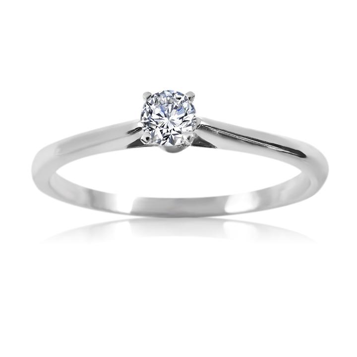 Кольцо с натуральным бриллиантом
