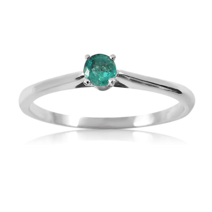 Помолвочное кольцо с изумрудом «Holly»