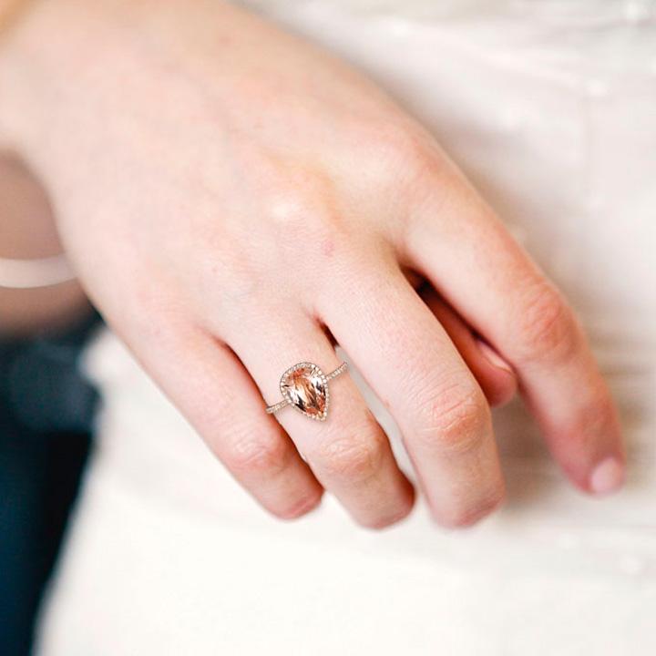 Эксклюзивное кольцо с крупным морганитом «Доротея»