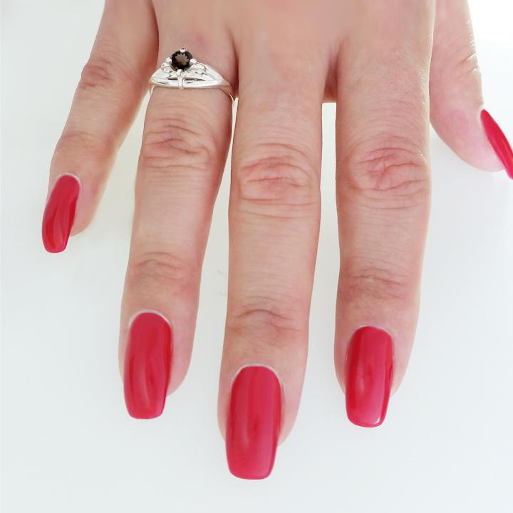 Женское винтажное кольцо с раухтопазом «Эдит»