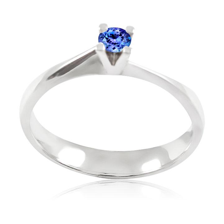Золоте заручальне кольцо з танзанітом «Хвилюючий момент»