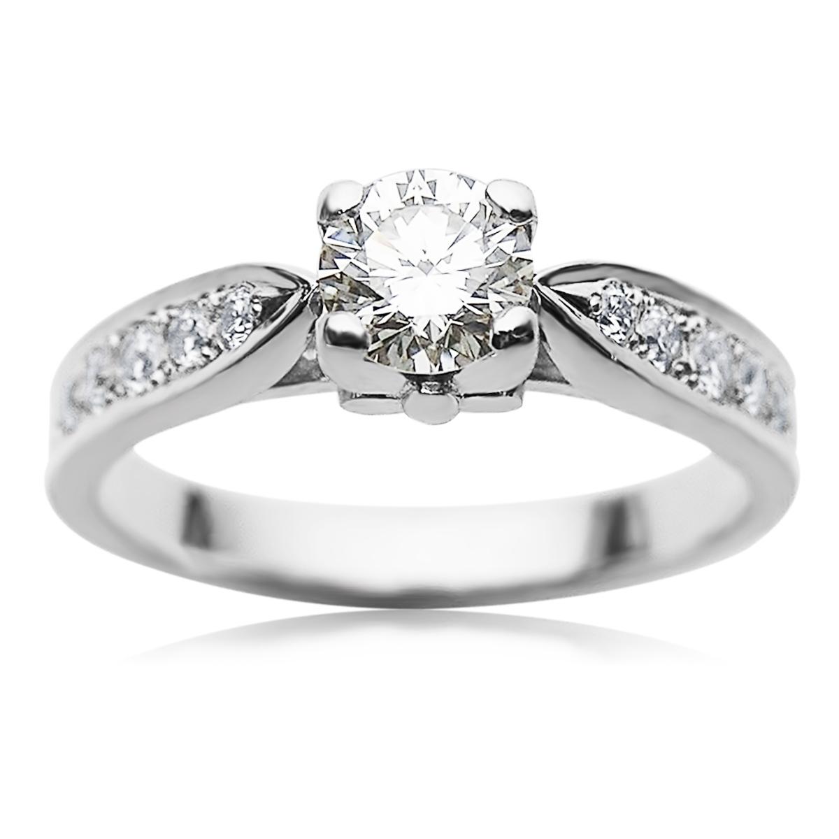 Класична каблучка на заручини з діамантом 0,50 Ct «Принцеса Вікторія»