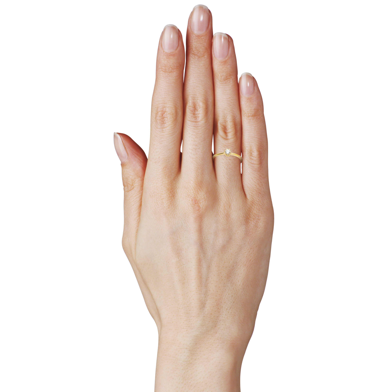 Кольцо с одним бриллиантом 0,12 Ct «Rendezvous»