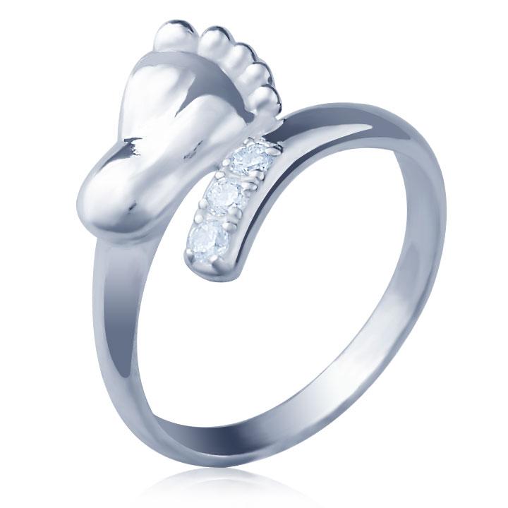 Кольцо из золота с цирконием