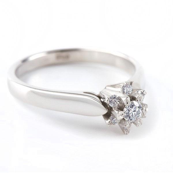 Красива каблучка для заручин з діамантами «Афродіта»