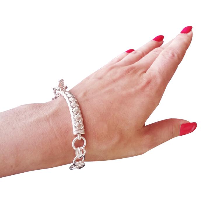Серебряный браслет с подвесками «Гертруда»