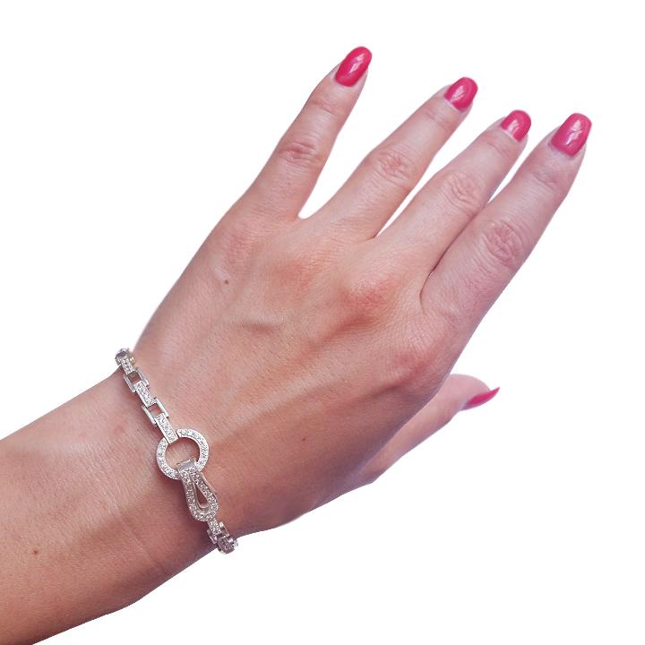 Золотой браслет с кристаллами Сваровски «Изабелла»