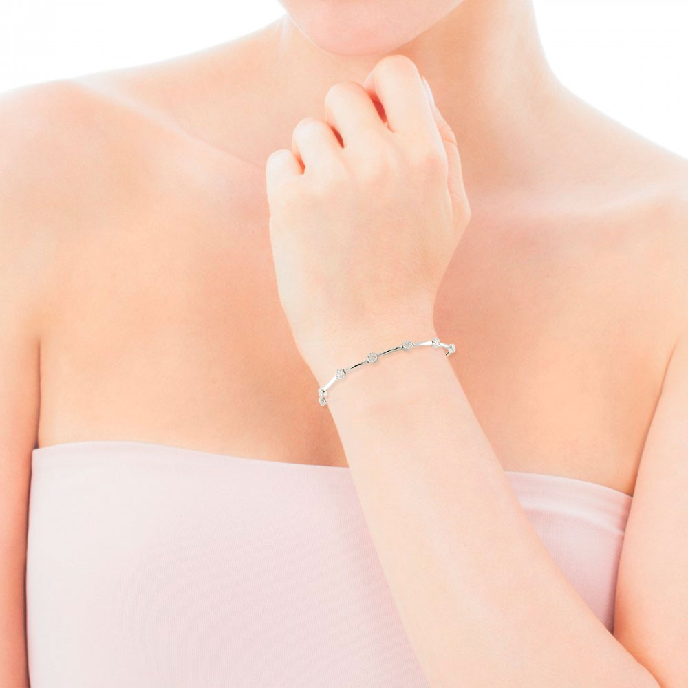 Золотий браслет з діамантами «Эбігейль»