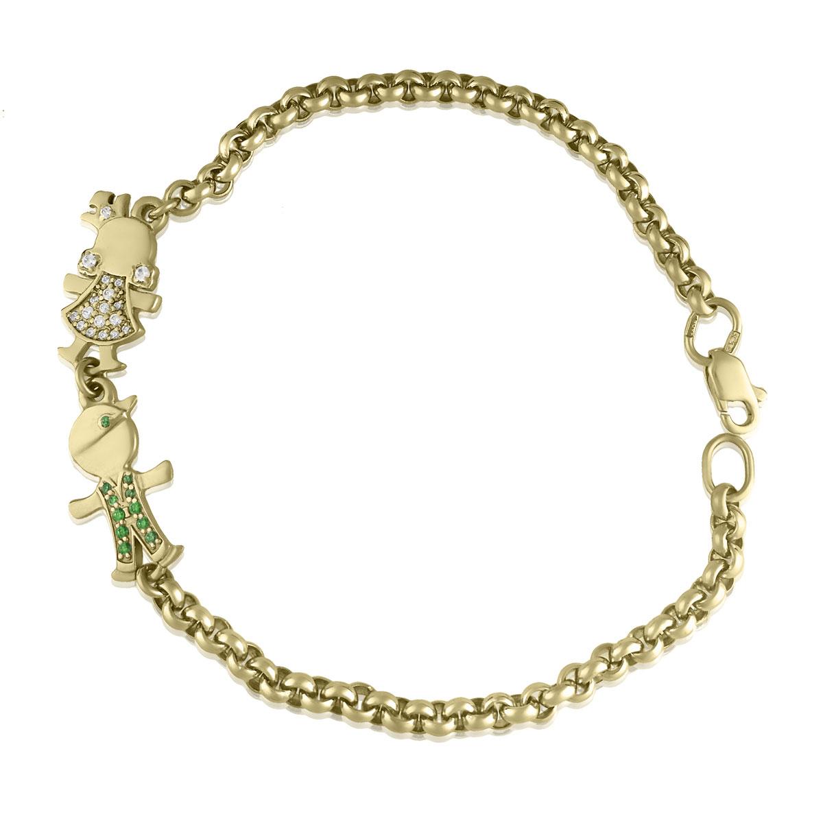 Золотий браслет з фігурками дітей «Mummy Jewel»