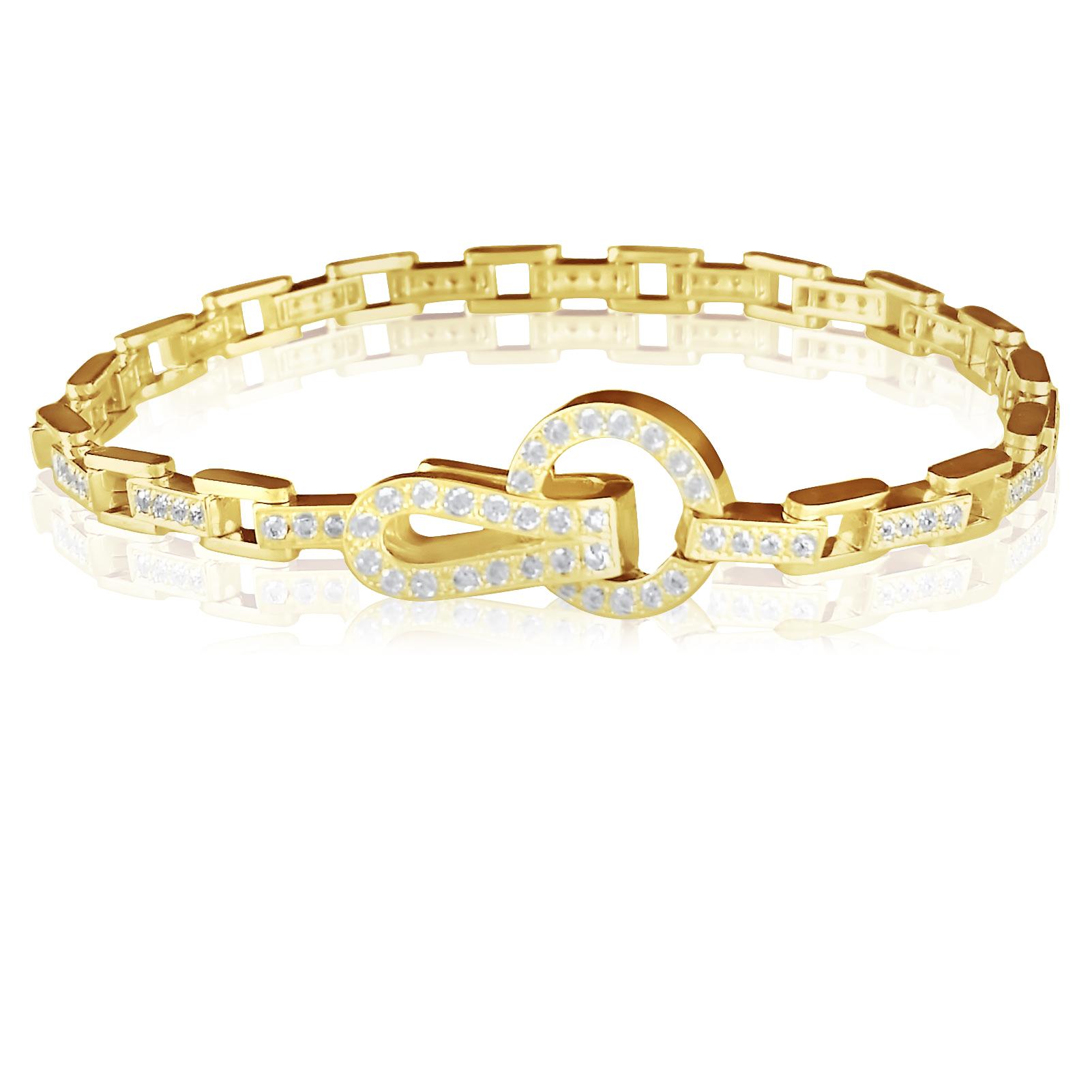 Золотий браслет з кристалами Сваровські «Ізабелла»