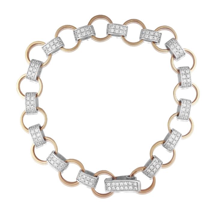 Золотий браслет «Муза» з кристалами Сваровські