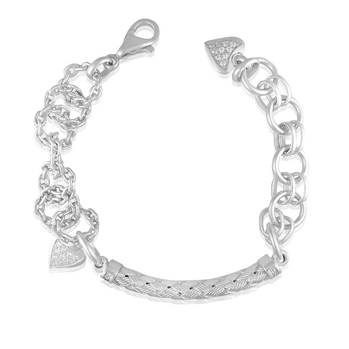 Срібний браслет з підвісками «Гертруда»