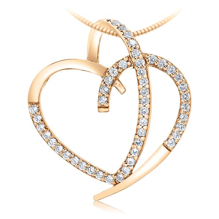 Золотий кулон з діамантами «Лебедина вірність»