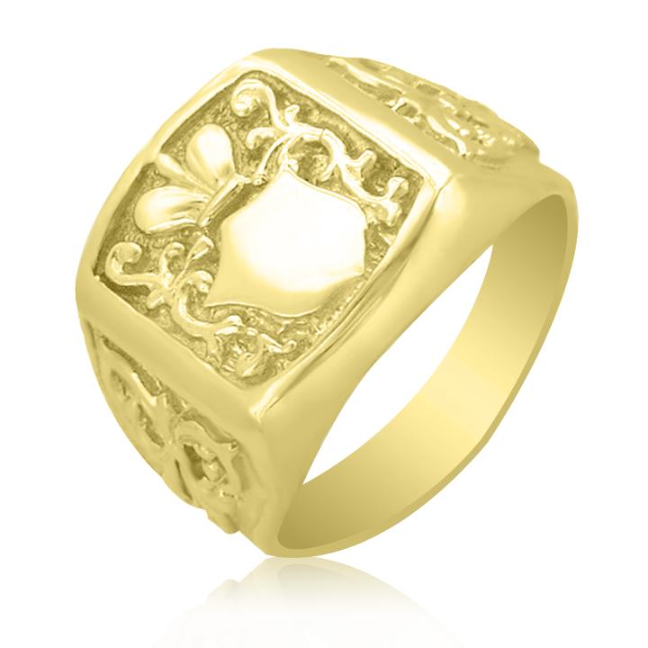 Золотой мужской перстень Золотой перстень без камней