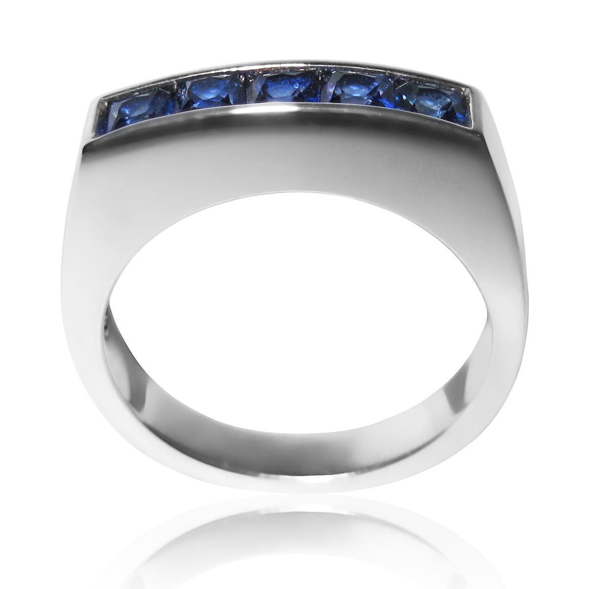 Золотий чоловічий перстень з сапфірами «Марк»