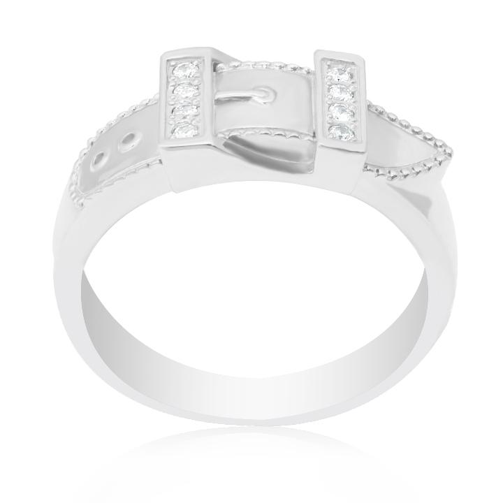 Золотой перстень с цирконием