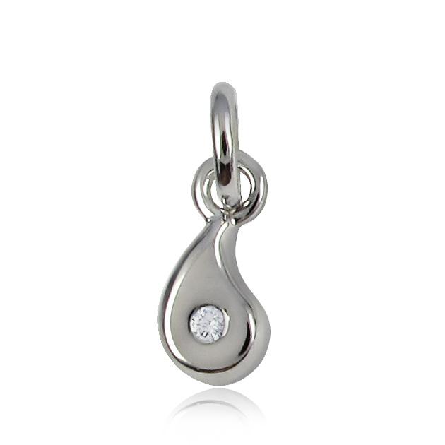 Золотой кулон с бриллиантом «Капля счастья»