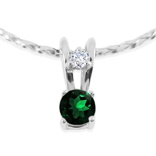 Золота підвіска з смарагдом і діамантом «Ягідка»