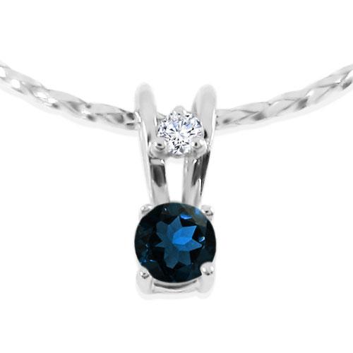 Золотий кулон з сапфіром та діамантом «Ягідка»