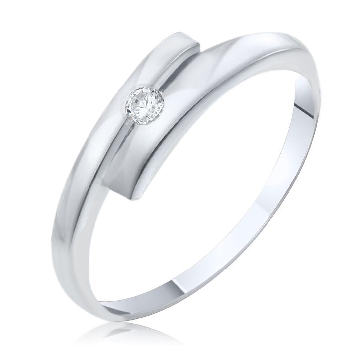 Золота каблучка з діамантом «Бездоганність»