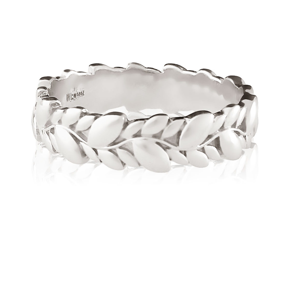 Золотое обручальное кольцо «Колос»