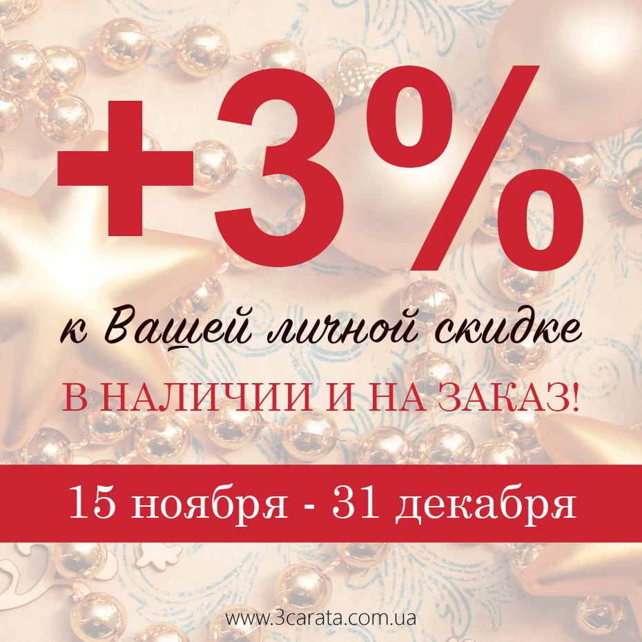 +3% к вашей личной скидке!