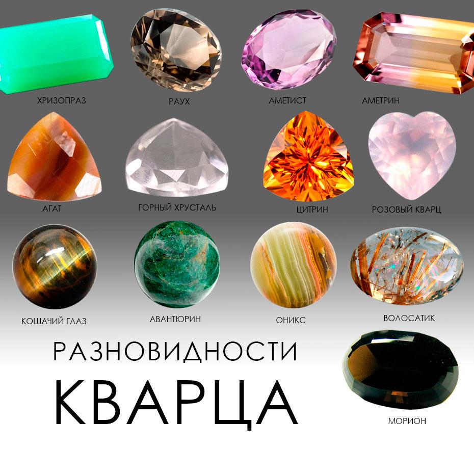 Чарующее многообразие кварца: разновидности и цвета