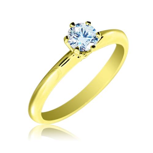 Каблучка діамант
