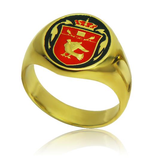 Золотой перстень эмаль