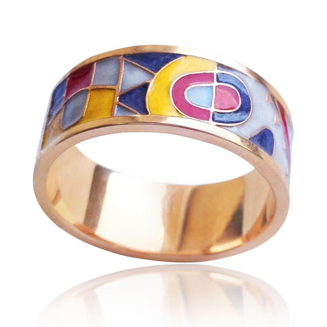 Золотое кольцо эмаль