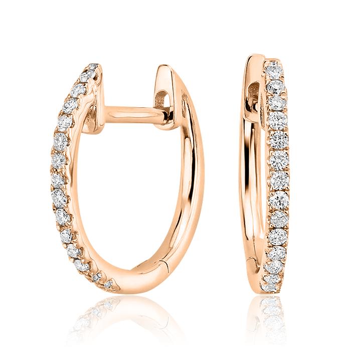 Золоті сережки з цирконієм  'Caroline'
