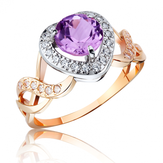 Золотое кольцо аметист