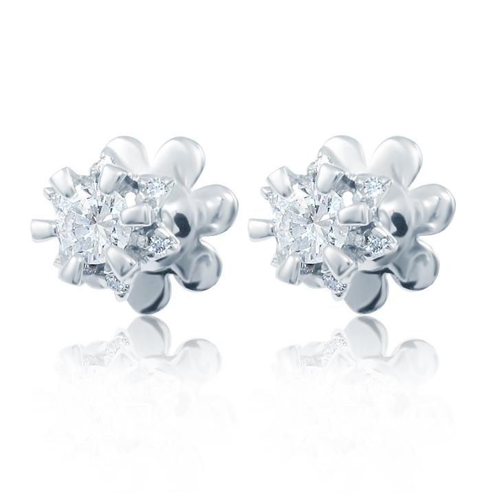 Золоті сережки-пусети з діамантами 'Nellie'