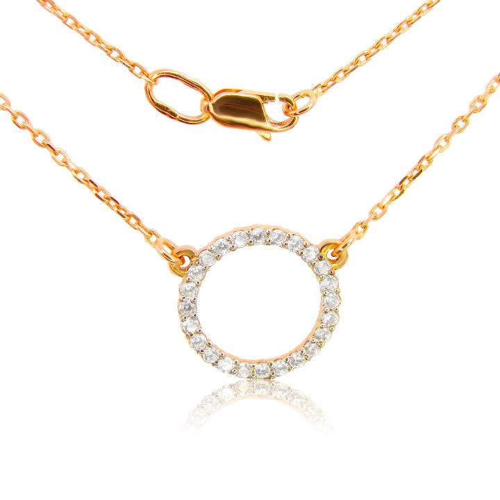 Золотое колье на цепочке 'Кольцо'