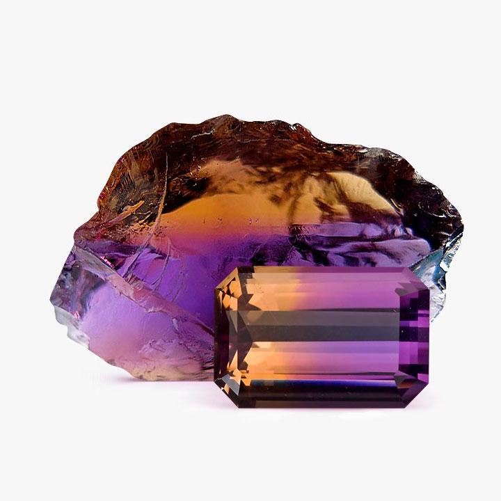 Аметрин камень фото