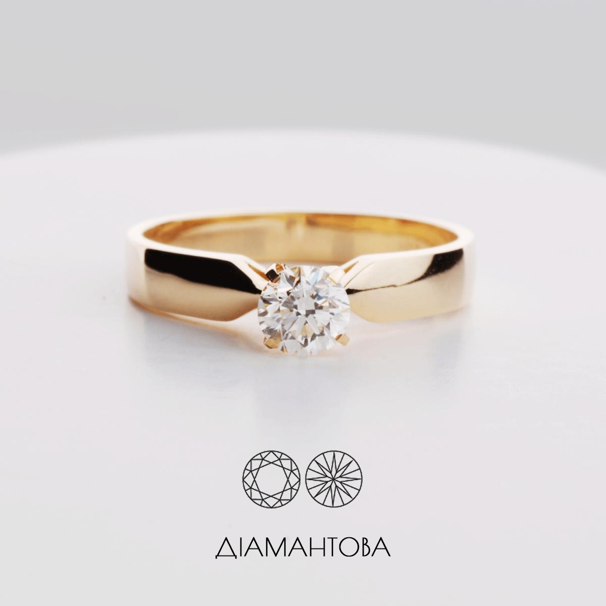 Золоті каблучки з діамантами