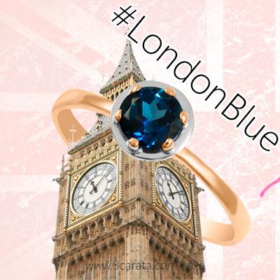 Золота каблучка з топазом Лондон 'Gold Brand'