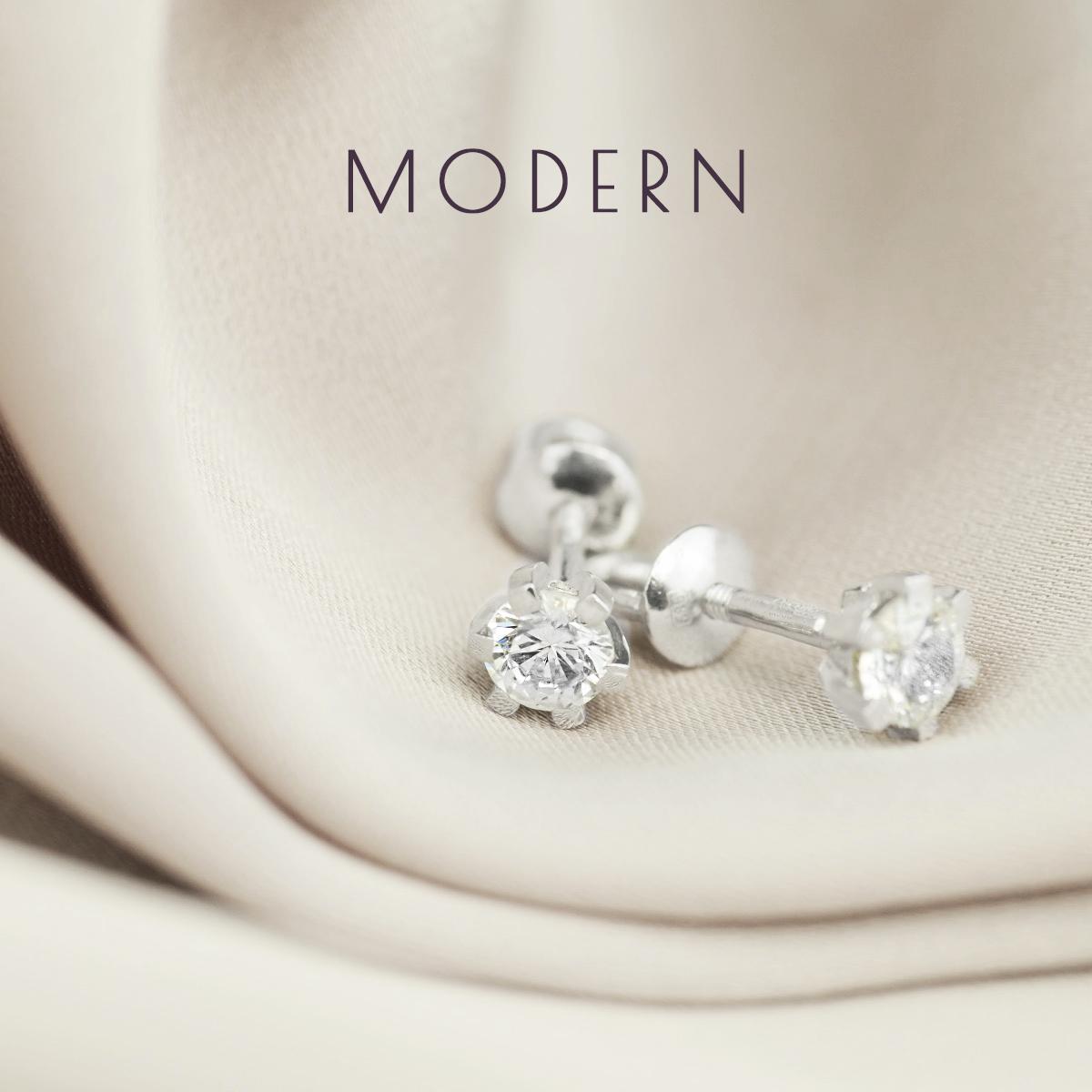 Класичні сережки гвоздики з діамантами 'Рейчел'