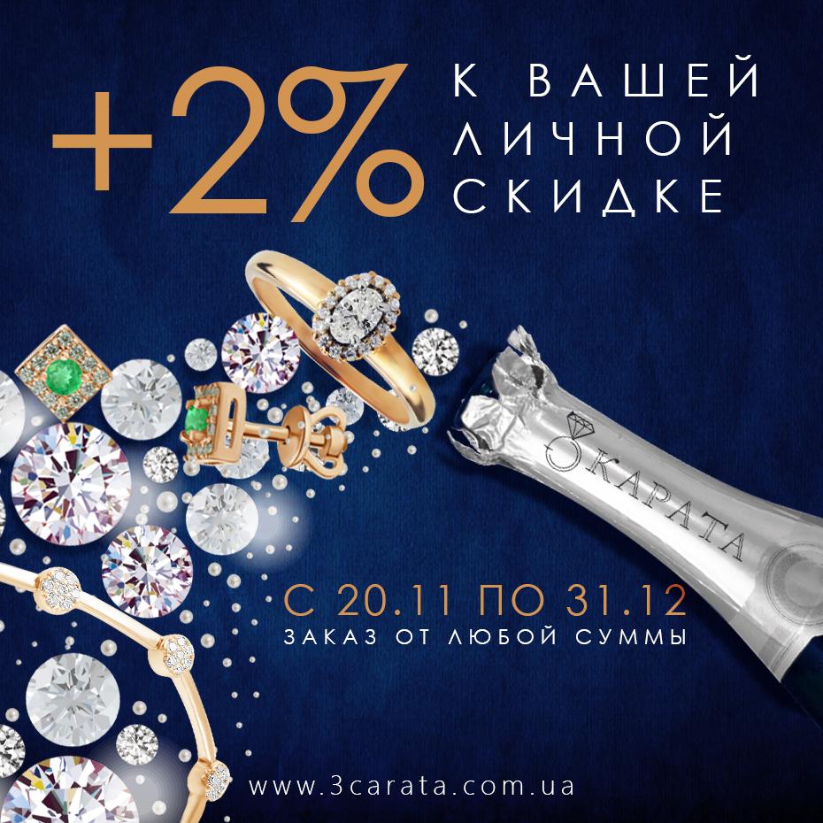 +2% к вашей личной скидке брелоки Ювелирный интернет-магазин 3 Карата'