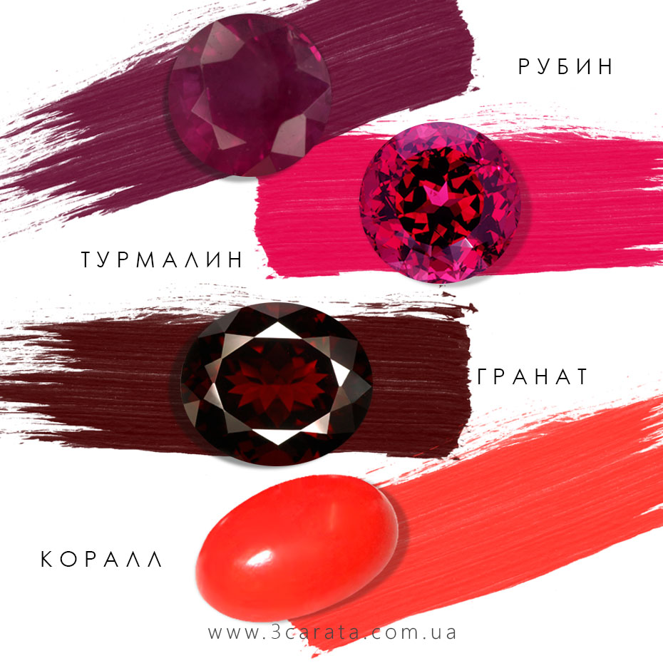 Красные драгоценные камни Ювелирный интернет-магазин 3Карата