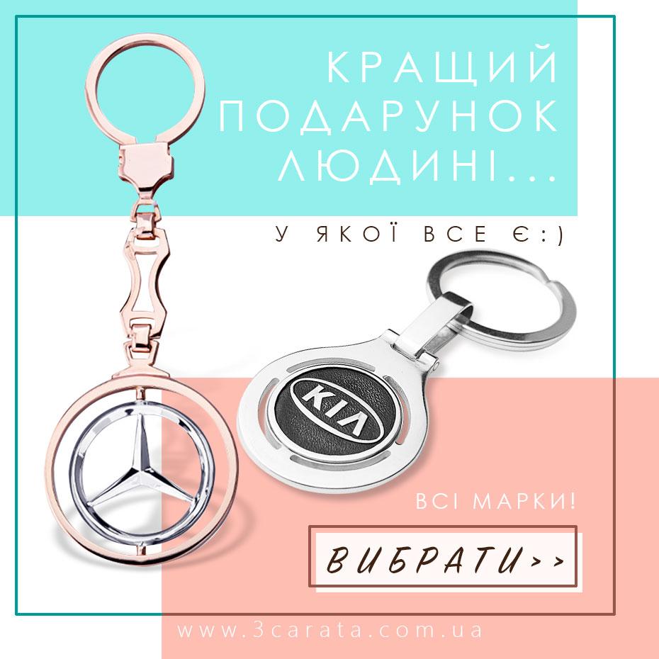 Брелоки для ключів, авто брелки із золота і срібла Ювелірний інтернет-магазин 3 Карата'