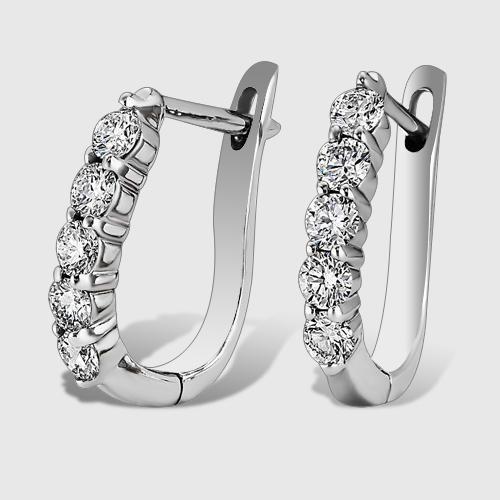 Золоті сережки з діамантами 'Quirino'