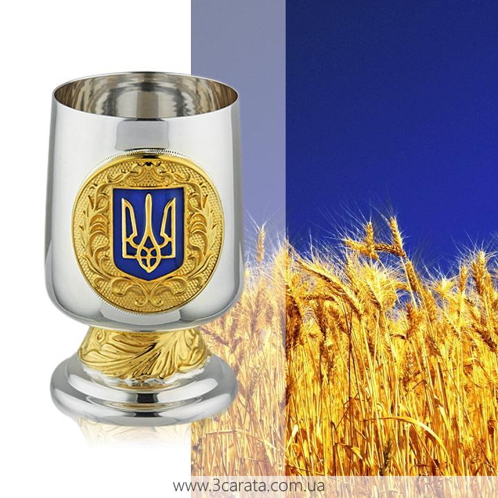 Серебряная рюмка 'Герб Украины'