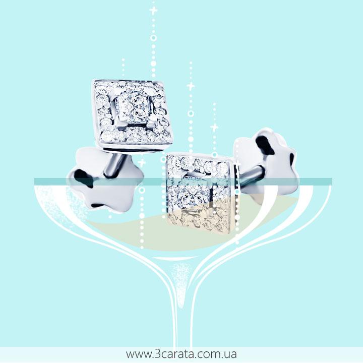 Золоті сережки з діамантами 'Pret-a-porte'